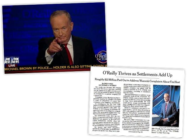 Bill O'Reilly e a matéria do 'Times'    Créditos: Reprodução/Fox News/The New York Times