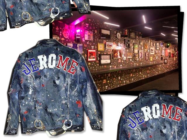 Detalhe do clube Jerome e da jaqueta criada por Fábio Kawallys, que pela segunda vez, quase foi levada pra casa...    Créditos: Acervo pessoal