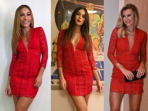 Sete atrizes chamam atenção ao usar o mesmo vestido na mesma semana