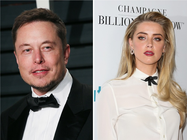 Elon Musk e Amber Heard || Créditos: Getty Images