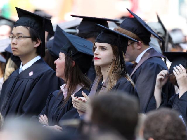 Emma em sua formatura, em 2014 || Créditos: Getty Images
