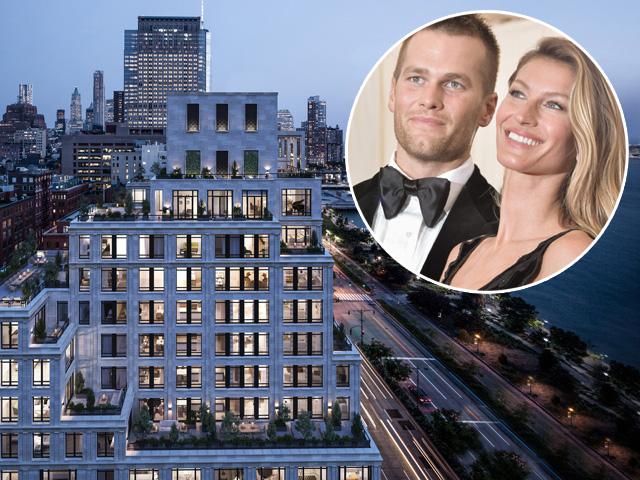 Tom e Gisele, e uma imagem do novo endereço deles em NY