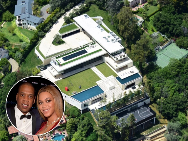 Jay-Z e Beyoncé, e a mansão à venda em LA || Créditos: Getty Images/Reprodução