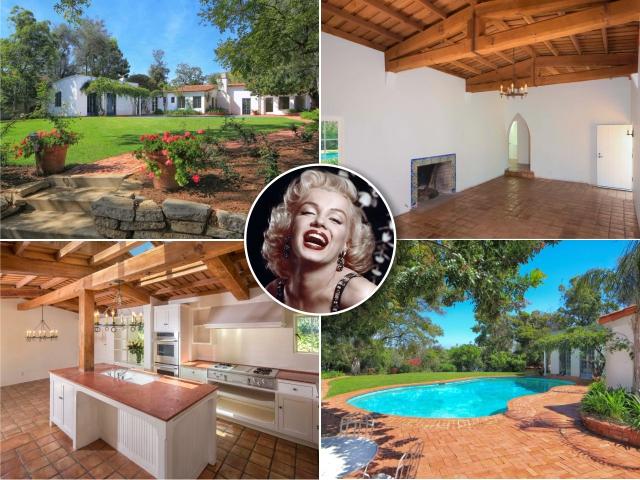 Marilyn e a casa que comprou no início de 1962    Créditos: Getty Images/Divulgação