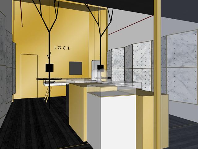 O projeto da nova loja Lool assinado pela    Créditos: Divulgação