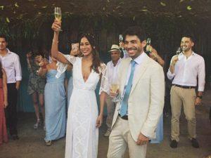 Casamento na Bahia teve desembarque em massa de turma de Londres