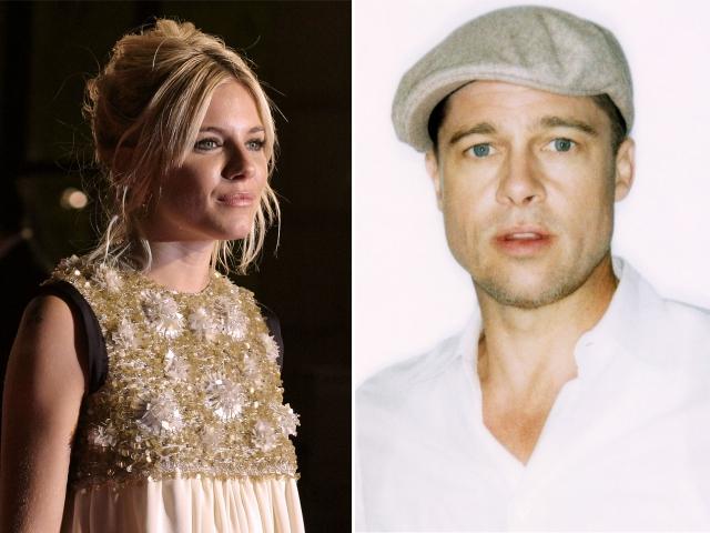 Sienna Miller e Brad Pitt || Créditos: Caroline Bonarde Ucci/Blake Nelson Boyd/Wikipedia Commons