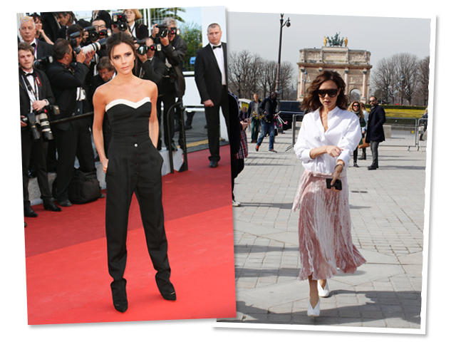 Victoria Beckham em Cannes e em Paris: a aniversariante do dia é puro estilo! || Créditos: Getty Images