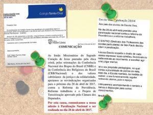 Tradicionais colégios de São Paulo vão aderir à greve geral na próxima sexta-feira
