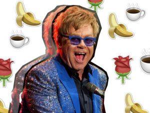 Frutas, vegetais orgânicos e 63 rosas. Confira as exigências de Elton John em SP