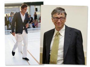 Megatenista Roger Federer faz dupla com… Bill Gates. Vem saber!