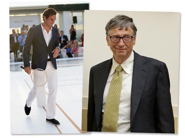 Roger Federer e Bill Gates