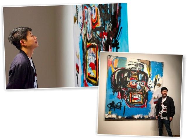 Yusaku Maezawa e seu Basquiat || Créditos: Reprodução/Twitter