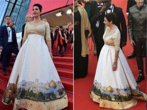 Política israelense causa no tapete vermelho de Cannes com look polêmico