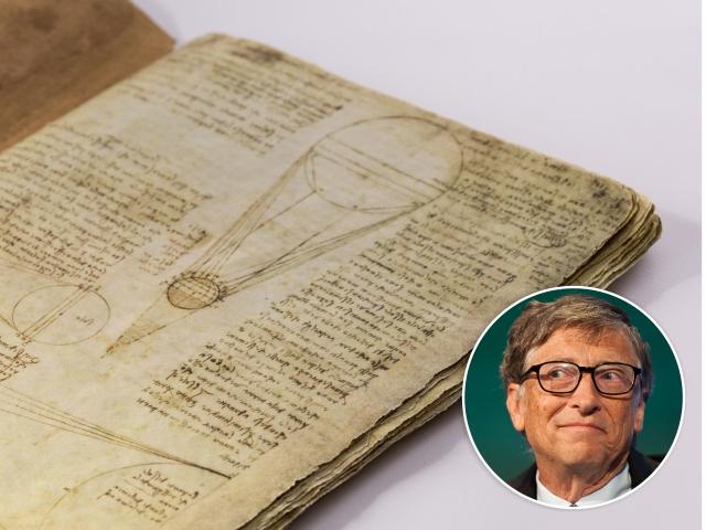 Bill Gates e seu Leicester Codex || Créditos: Getty Images
