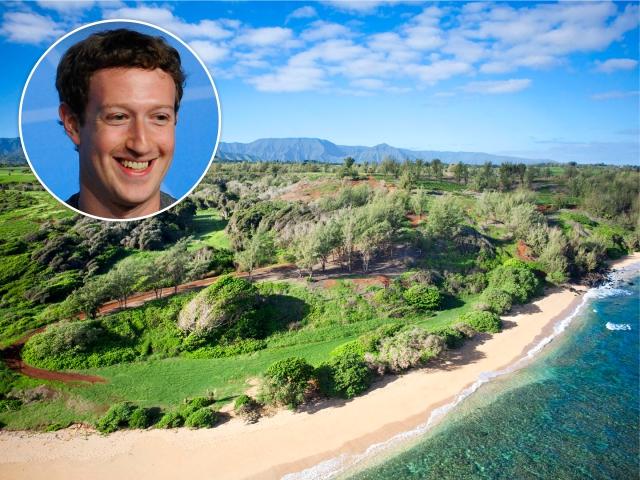 Mark Zuckerberg e a ilha no Havaí || Créditos: Getty Images