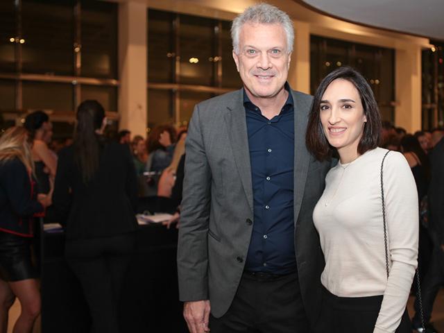 Pedro Bial e Maria Prata