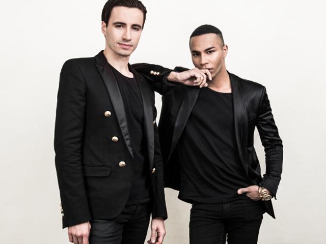 Sébastien Bertaud e Olivier Rousteing || Créditos: Divulgação