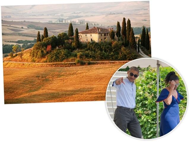 A Toscana, na Itália, onde Barack e Michelle Obama estão
