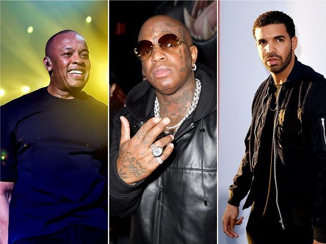 Dr. Dre, Birdman e Drake || Créditos: Getty Images