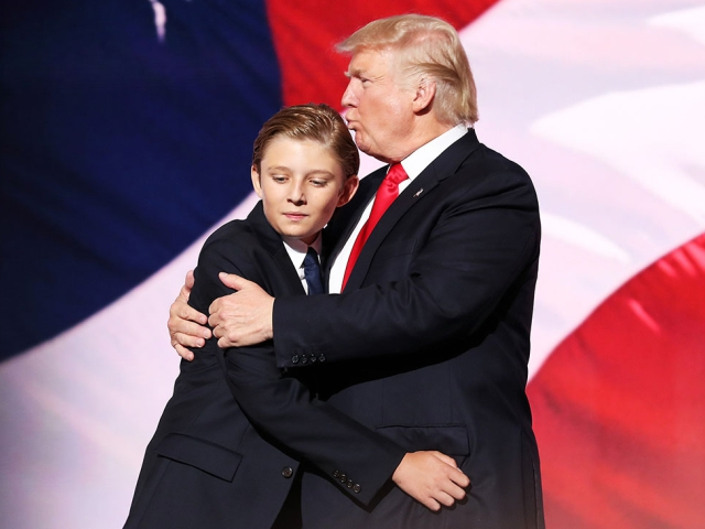 Barron e Donald Trump || Créditos: Getty Images
