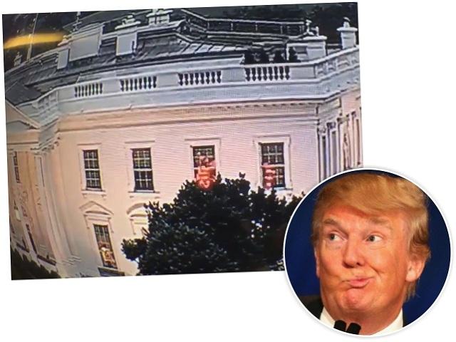 As luzes misteriosas: Trump estava em casa