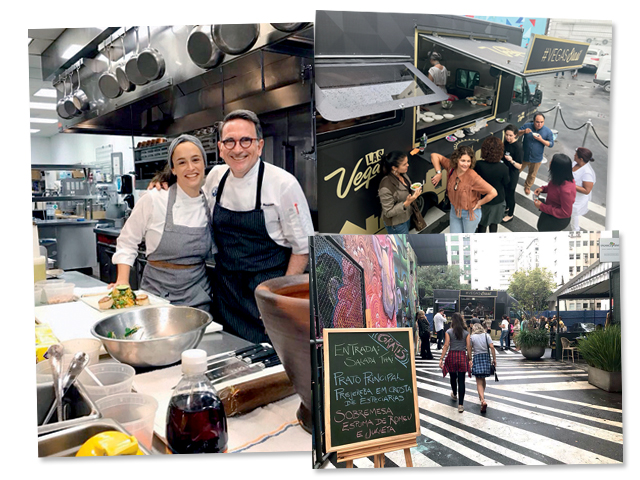 Depois e um intercâmbio gastronômico com o Chef Rick Moonen, Bel Coellho comandou o food truck de Las Vegas na Oscar Freire || Créditos: Divulgação