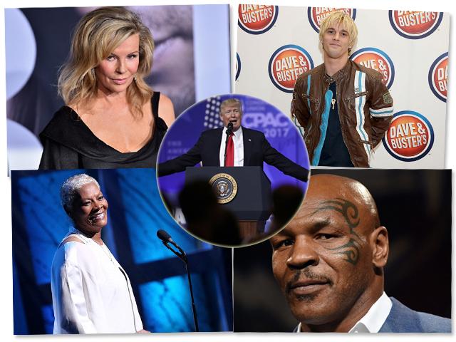 Kim, Aaron, Tyson, Dionne e Trump || Créditos: Getty Images