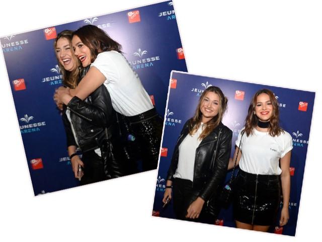 Bruna Marquezine com Sasha Meneghel Szafir no show de Ed Sheeran na Jeunesse Arena, no Rio
