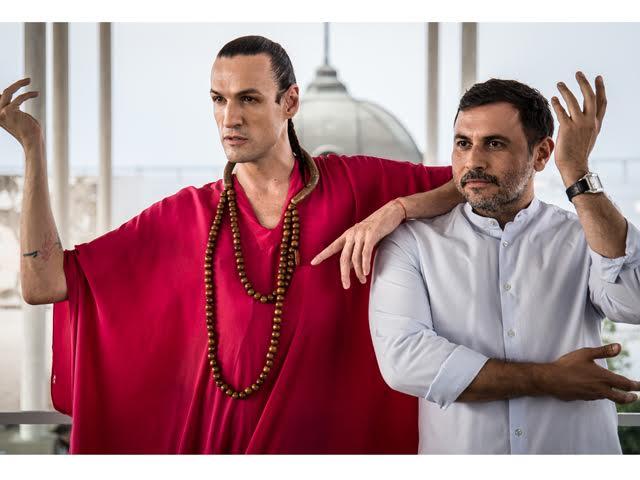 Dudu Bertholini com o estilista André Lima || Créditos: Divulgação
