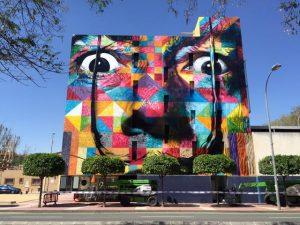 """Kobra está na Itália para pintar mural inspirado em """"Davi"""" de Michelangelo"""