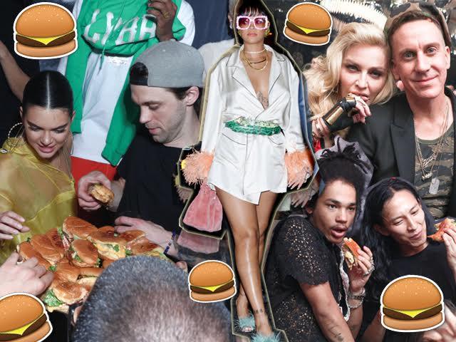 Kendall Jenner, Rihanna, Madonna com Jeremy Scott e o estilista Alexander Wang || Créditos: Divulgação
