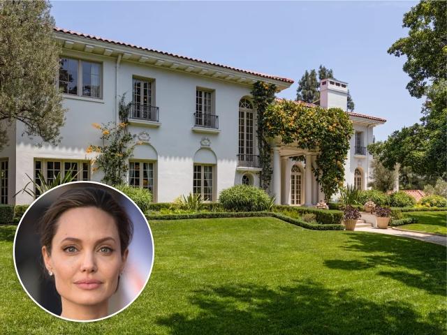 Angelina Jolie e a mansão em Los Feliz, na Califórnia || Créditos: Getty Images/Divulgação
