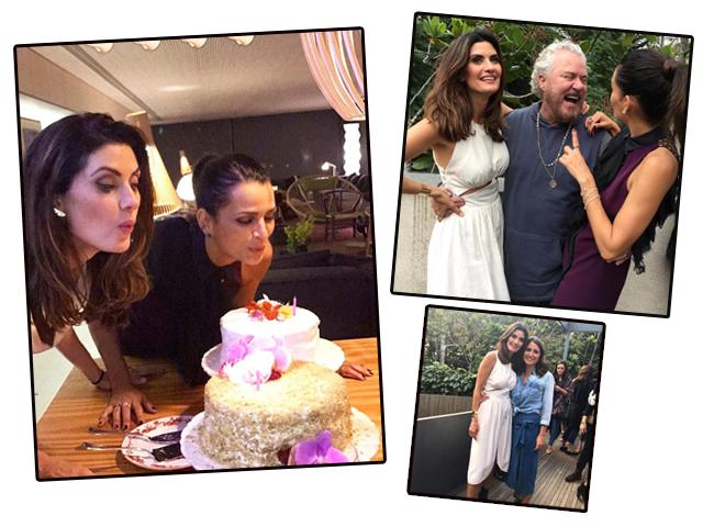 Isabella Fiorentino e Fernanda Motta em aniversário duplo. Aqui as duas posam com Mauro Freire e Isabella ao lado da irmã, Carol Fiorentino || Créditos: Reprodução / Instagram