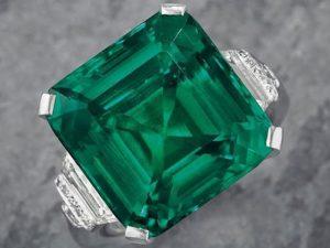 Esmeralda poderosa que pertenceu a John D. Rockefeller é leiloada por US$ 5,5 mi