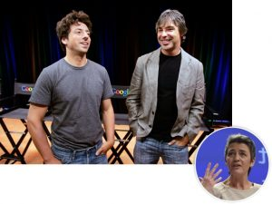 Alvos de multa recorde, fundadores do Google perderam bilhões na bolsa