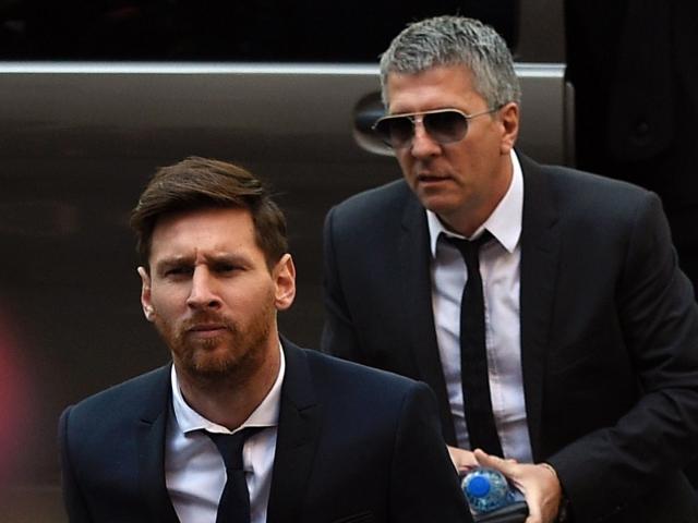 Messi com o pai, Jorge Horácio