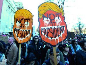 Manifestações contra Trump são o novo brunch dos americanos. Oi?