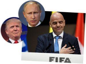Presidente da FIFA quer Trump e Putin juntos na abertura da Copa da Rússia