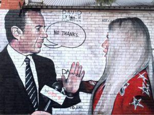 """O """"não"""" de Jerry Seinfeld para Ke$ha foi transformado em grafite"""