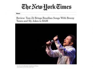 """Show de Tom Zé no Brooklyn Academy é destaque no """"The New York Times"""""""