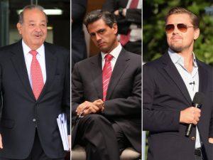 Leonardo DiCaprio se une a Carlos Slim e presidente do México por boa causa