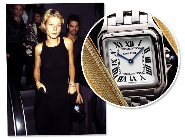 "3571f1a67f7 Gwyneth Paltrow com o relógio Panthère na prèmiere do filme ""Boogie Nights  – Prazer Sem Limites"""