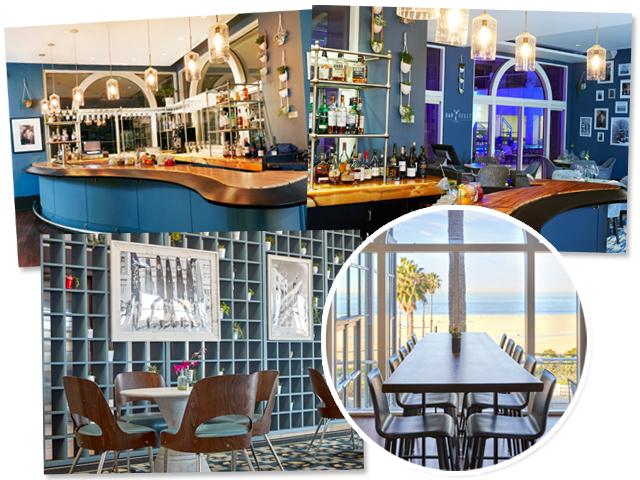 O BarBelle, novo restaurante do Loews Santa Monica Beach Hotel, é um verdadeiro refúgio à beira-mar || Créditos: Divulgação