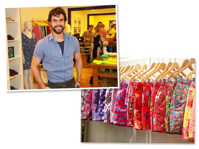 Bruno Lima, da Néctar Mailing, na inauguração da nova flagship Shorts Co || Créditos: Divulgação