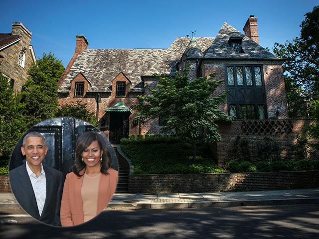 Barack e Michelle e a mansão deles em Washington