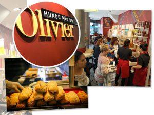 Olivier Anquier recebe clientes de sua nova padaria em cadeira de rodas