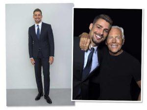 """Cauã Reymond recebe carinho de Giorgio Armani em desfile em Milão: """"Il bello Cauã"""""""