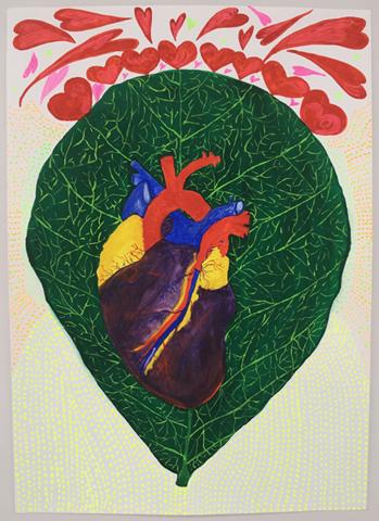 Obra de Suelen Romani em cartaz    Créditos: Divulgação