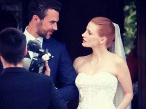 Os cliques do casamento de Jessica Chastain em uma villa na Itália. Vem!